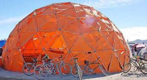 гео купол открытого типа, диаметром 7м
