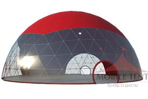 Вместимый и надежный Геодезический шатер ТЕНТФАБРИК 30 Х 30 М