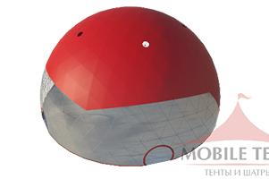 Ветроустойчивый Геодезический шатер ТЕНТФАБРИК модель 30 Х 30 М