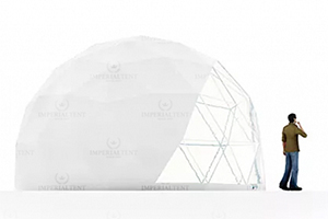 Шатер ROYALTENT модель SPHERE RT30D6 с геодезическим куполом с акустическим эффектом