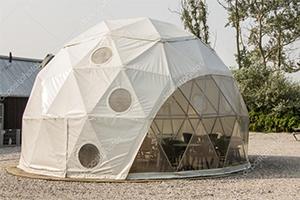 Геодезические шатры с прозрачной стенкой для мероприятий