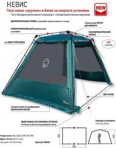 Каркасный тент-шатер Greenell «Невис»