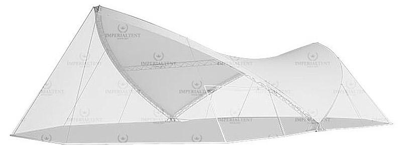 Каскадный шатер CASCADE RT18X30 с растяжками