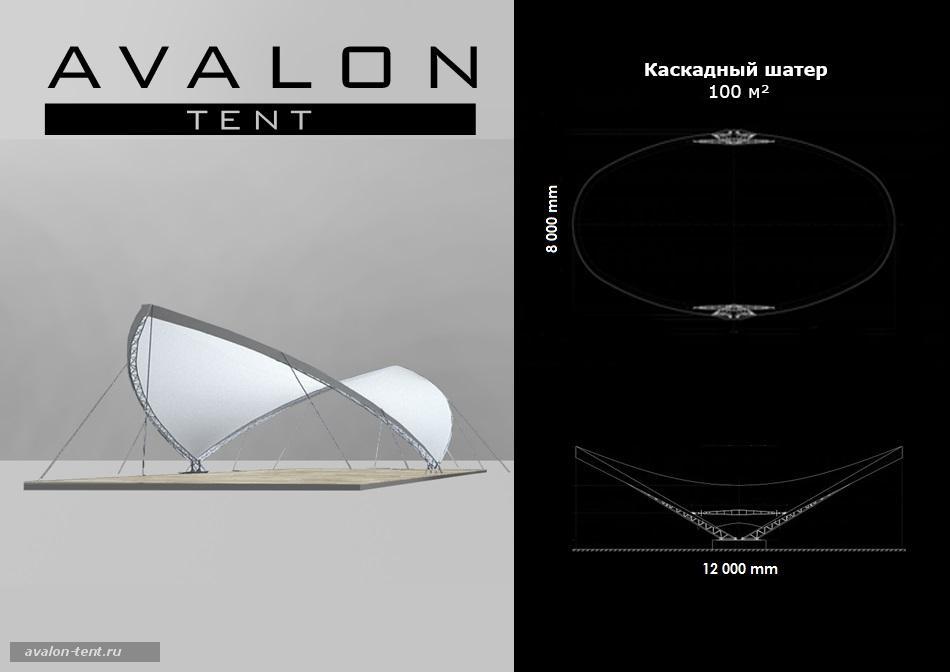 Каскадный тент 100 кв.м - AVALON TENT