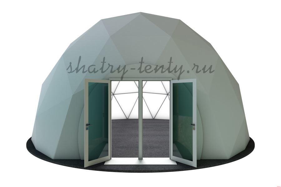 Купольный сферический шатер с распашными дверьми