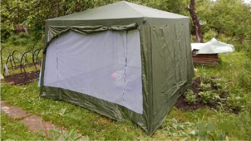 Летний шатер для отдыха 1628d в саду