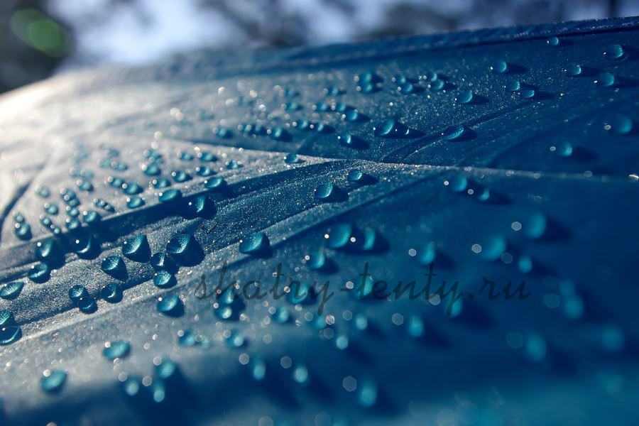 Материал для шатров-тентов, защищающих от дождя