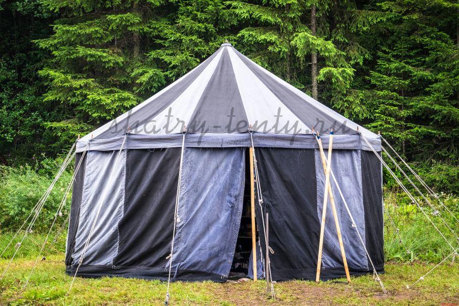 Двухскатный многогранный шатер