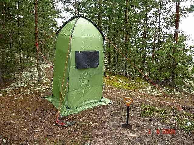 Мобильная палатка-душ SANITARY ZONE, в лесу