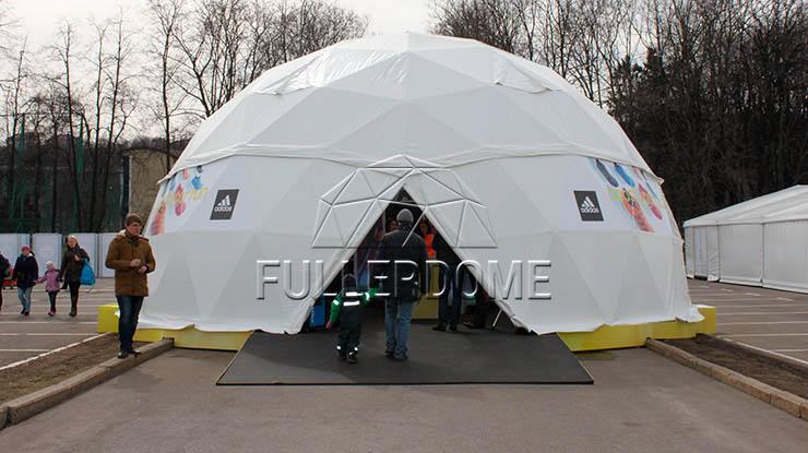 Мобильный шатер Fullerdome для торговли
