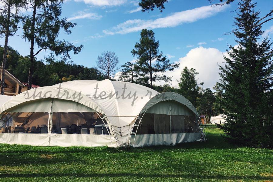 Арочный шатер-тент для мероприятии на природе