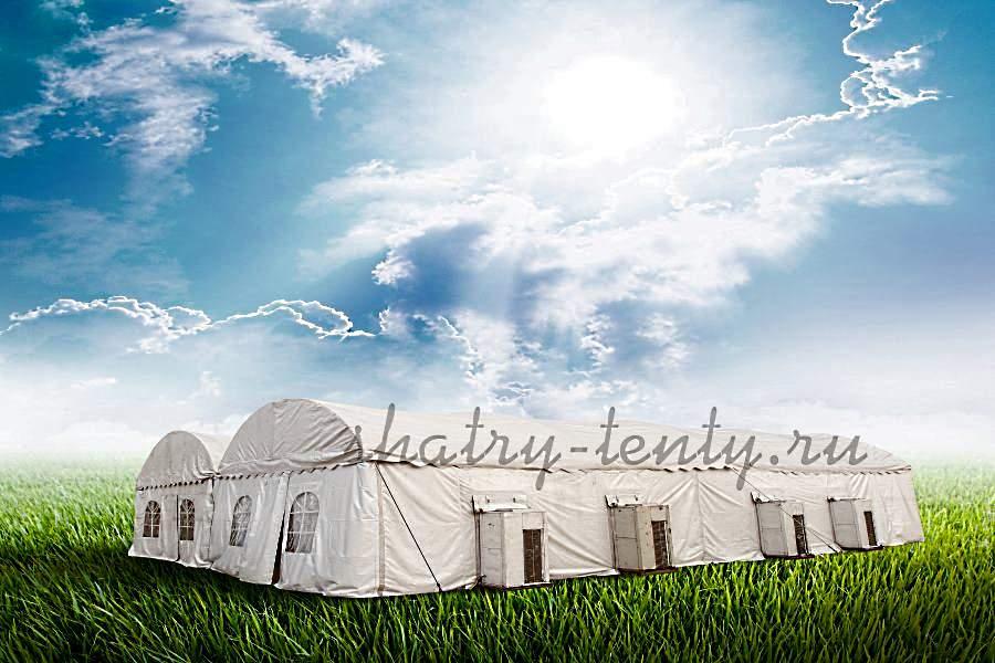 Большой шатер-тент -надежное укрытие от атмосферных явлений