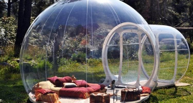 Надувнвя сфера-дом в виде спальни с мебелью