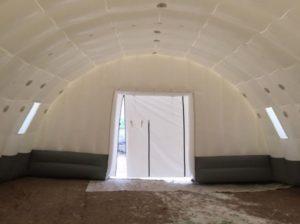 Пневмокаркасный шатер ВОЗДУХ ГРУПП вид изнутри