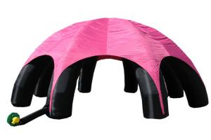 Надувной тент черно-розовый, Батут мастер, Россия, схема