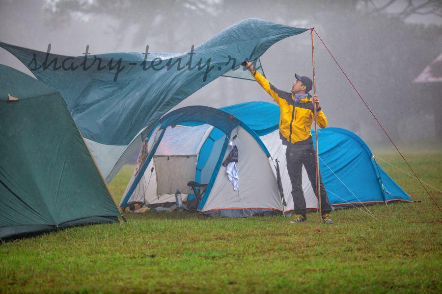 Тент из непромокаемого материала для шатра