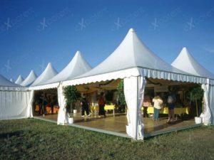 Большое помещение из объединенных шатров EXPOTENT Pagoda