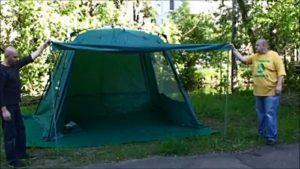 Каркасный тент-шатер Greenell «Невис» в открытом состоянии