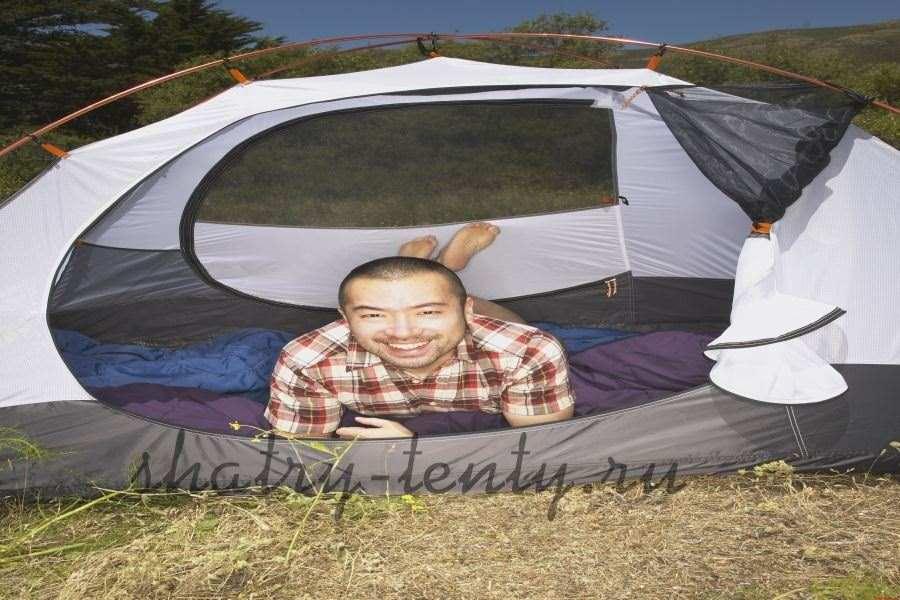 Отдых в сборном туристическом шатре