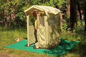 Бежевая палатка-кухня Митек Комфорт 2х2
