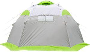 Зеленая Палатка Компании Lotos 5 Heat Valve в собранном виде