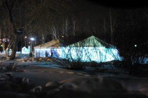 Зимний павильон КРАСНОЯРСК ТЕНТ 6 Х 6 М с подсветкой