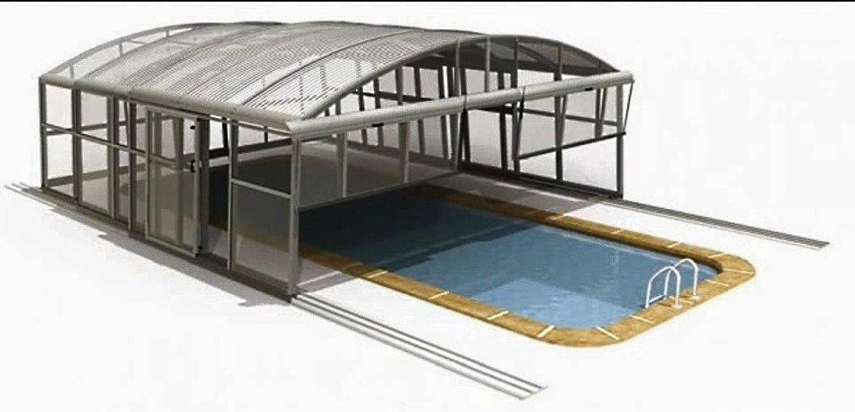 Павильон для бассейна из серии «KLASIK», компания Idealcover, Чехия