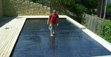 Плавающие жалюзи джля бассейна системы «ROLL-IN», компания DEL Франция,