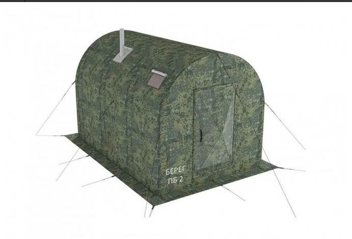 Походная баня ПБ-2 3х2 c перегородкой, «Берег», Россия