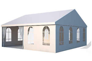 Пожаробезопасный классический двускатный шатер ФАБРИКА ШАТРОВ 10 X 10