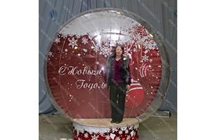 Прозрачная полусфера ЭДВЕНЧЕ модель Snow Globe