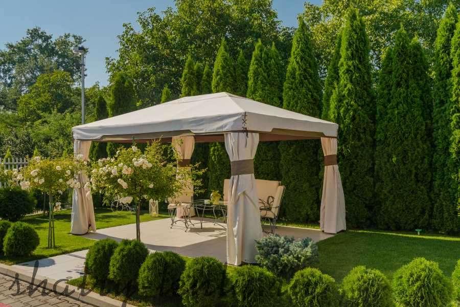 Садовый каркасный шатер тент из лиственницы