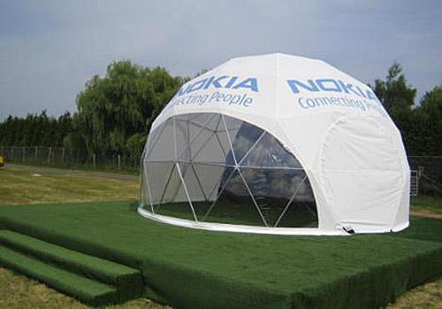Сферический шатер с логотипом для выставки