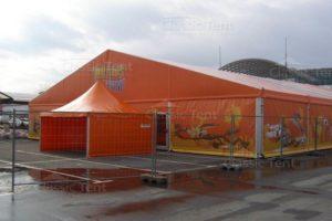 Шатер двускатный Classic Tent 20X20 М с закрытыми стенками