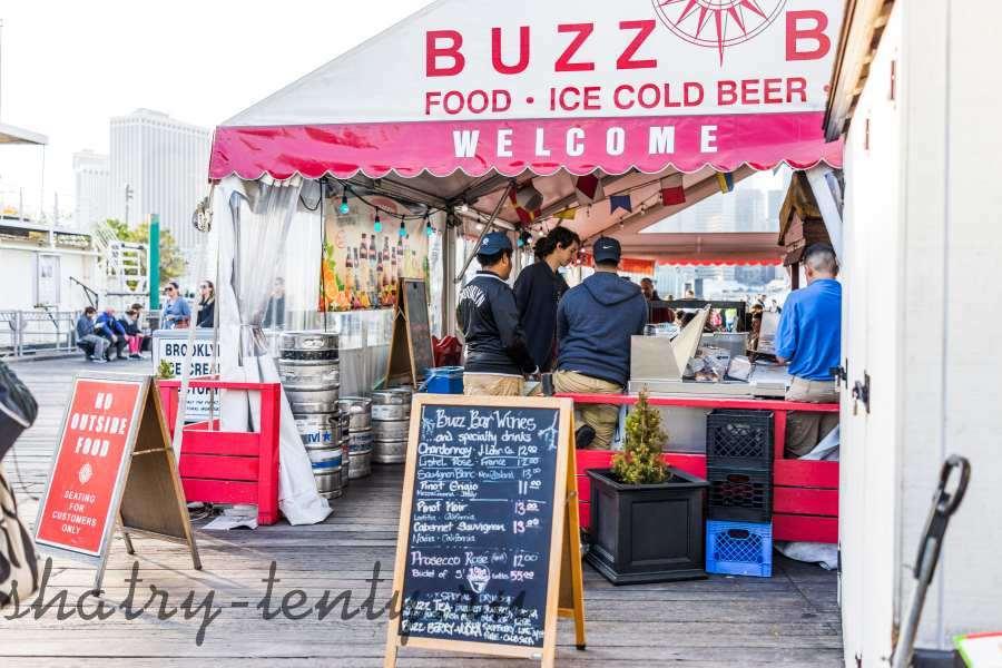 Торговля разливным пивом в каркасном шатре