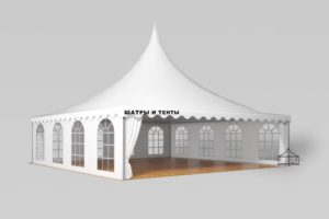 Шатёр Пагода 10х10 м компания – Шатры и тенты, Россия, в собранном виде