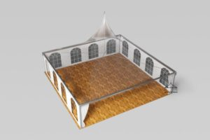 Шатёр Пагода 10х10 м компания – Шатры и тенты, Россия, Вид сверху
