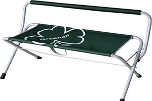 Темно-зеленая скамейка складная Greenell FB-1 в разложенном виде