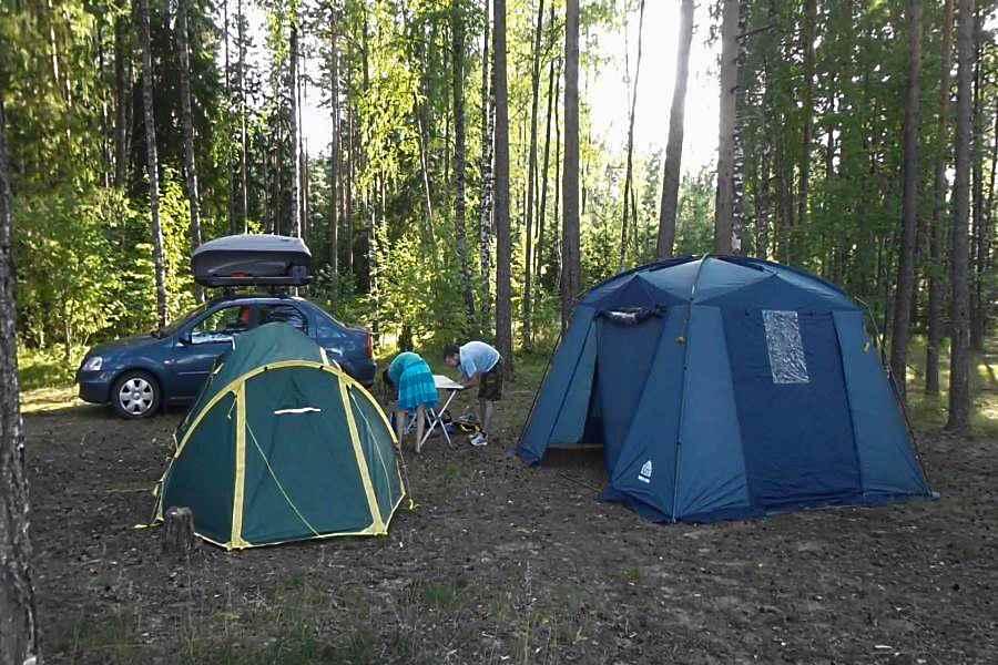Кемпинг в лесу с шатром-тентом Dinner Dome