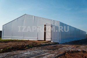 Тентовый ангар Фабрика Шатров 15х15 м, с воротами справо
