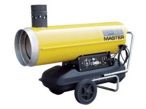 Желтая тепловая пушка компании MASTER