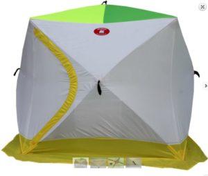 Трехслойная палатка МЕДВЕДЬ для зимней рыбалки Куб-3