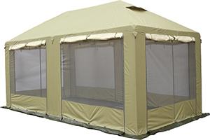 Водонепроницаемый тент туристический МИТЕК Пикник-люкс 3 Х 6 с москитными сетками