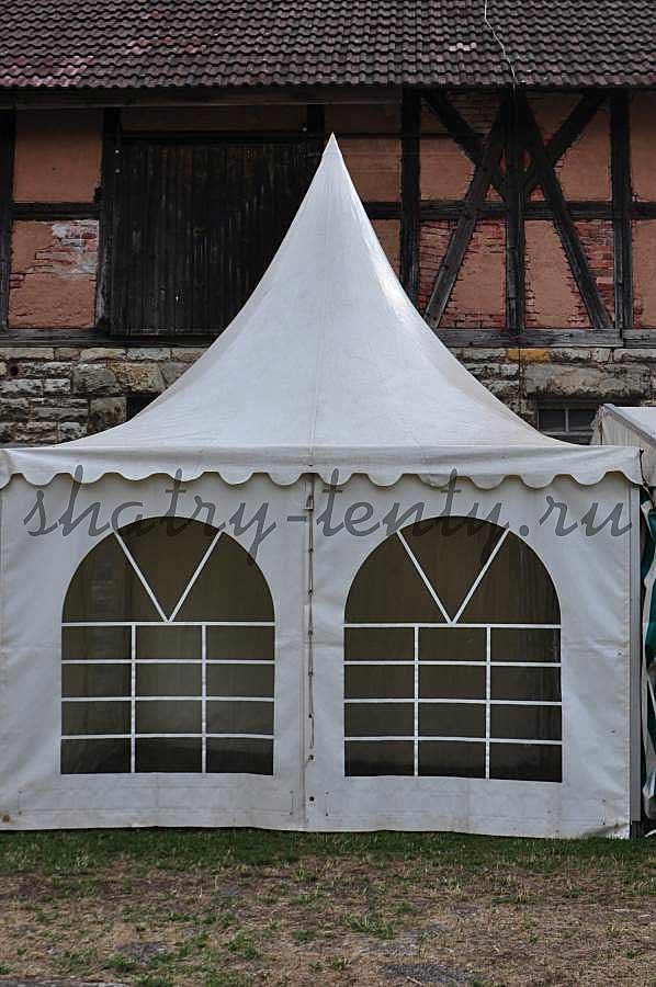 Шатер пагода для ярмарки зимой