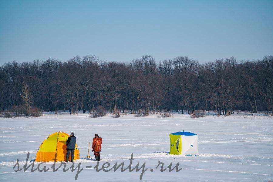 Зимняя рыбалка в шатрах