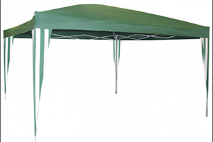 Бело-зеленый шатер-тент раскладной Park GZB-300 3 Х 3 М без стенок