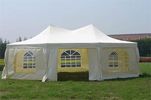 Белый сборно-разборный шатер-пагода GREEN GLADE Харлин 1052 из полиэстра, производства Китай