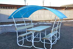 Беседка-шатер «Летняя» с крышей из поликарбоната производитель – Теплицы Юга, Россия