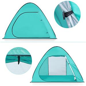 Устройство входного проема в раскладном тенте- шатре для пляжа LIXADA