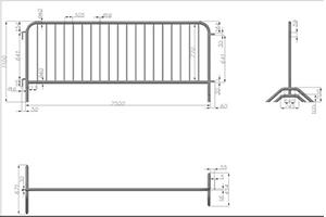 Схема с размерами, Фан-барьеры Производитель: «Главтент» Россия